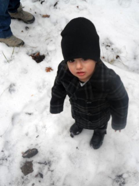 toddler playing in lake arrowhead