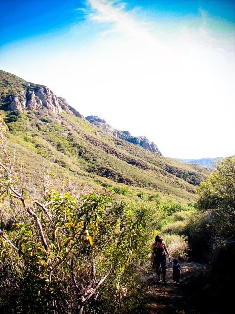 hiking with toddler in malibu