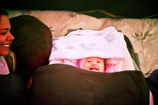 infant camping big sur, california