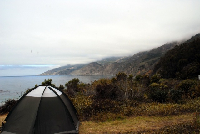 camping hiking big sur california