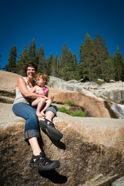 Hiking the Kaweah River Falls trail with toddler