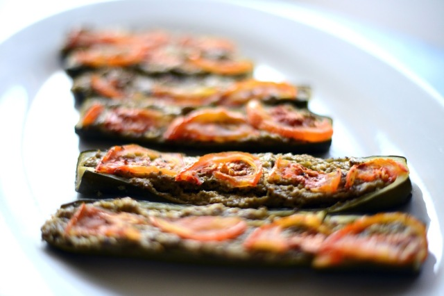 Crimini Mushroom and Mint Stuffed Zucchini Recipe