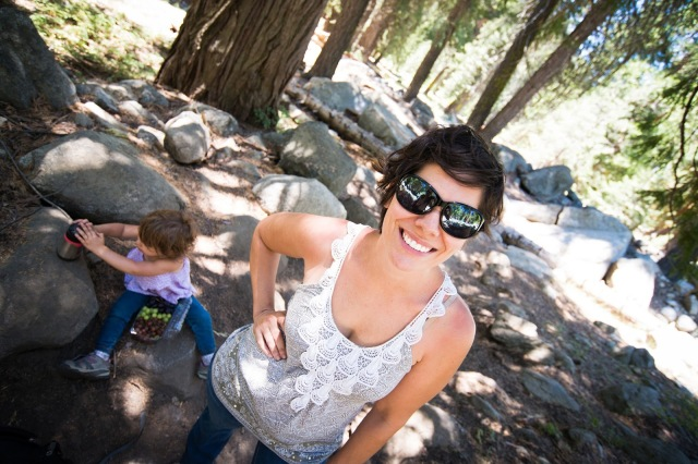 Hiking Tokopah Falls Trail with a toddler