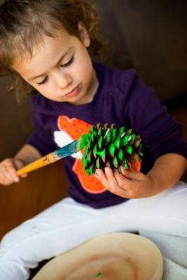 Pine Cone Christmas Tree Fall Craft