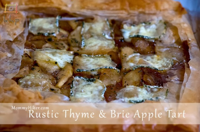Rustic Thyme and Brie Apple Tart