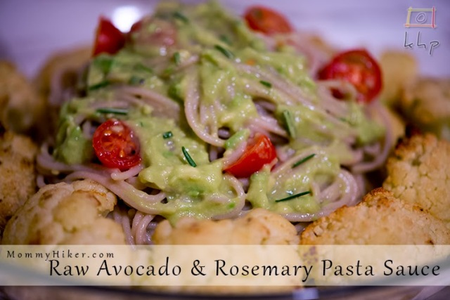 Raw Avocado and Rosemary Pasta Sauce Recipe