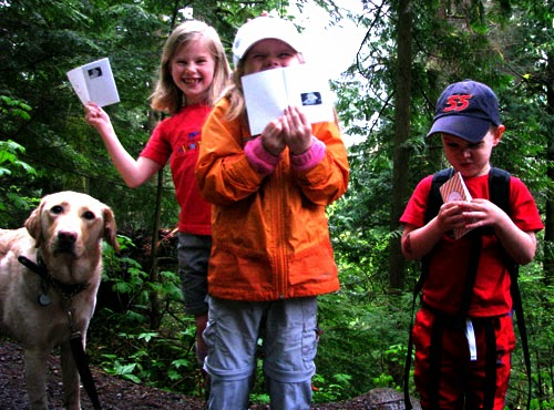 Kids Hiking, Letterboxing
