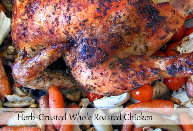 Herb-Crusted Whole Roasted Chicken & Vegetables