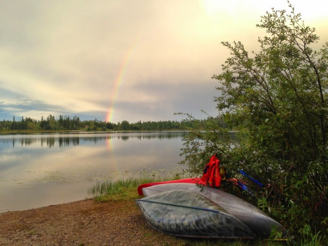 Family Camping at Crimson Lake Campground, Alhambra, Alberta Canada